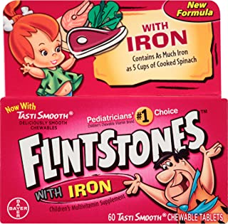 Flintstones Chewable Kids Vitamins with Iron, Multivitamin for Kids & Toddlers with..