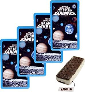 Freeze Dried Ice Cream Sandwich (Vanilla) Astronaut Food - 4 Pack