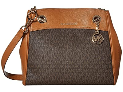 MICHAEL Michael Kors Jet Set Chain Legacy Medium Convertible Shoulder (Brown/Acorn) Shoulder Handbags