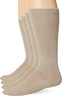 Jefferies Socks Men's Military Breathable Cotton Rib Tactical Over The Calf Boot Socks 4 Pack