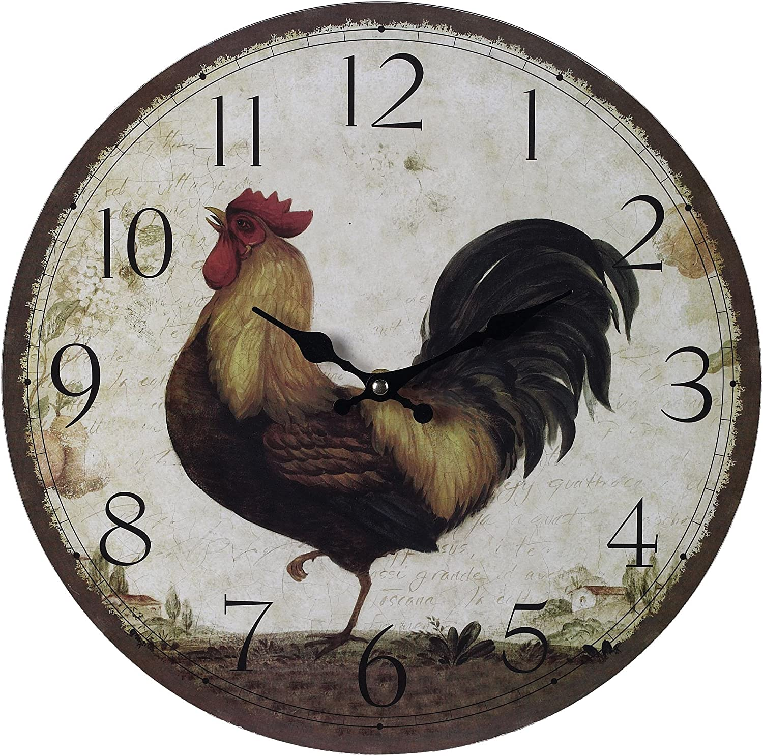 Hamptons Collection Rooster Wall Clock
