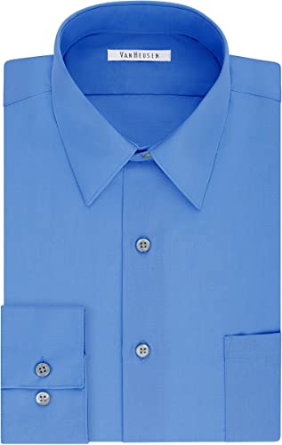 Van Heusen Hommes's Taille Big Robe Shirt Tall Fit Poplin, Pacifico, 18  Neck 37 -38  Sleeve