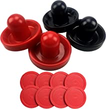 4PCS Plastic Air Hockey Pushers and 8PCS Pucks Replacement for Game Tables Goalies Equipment Accessories by CSPRING