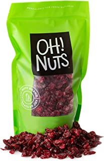 Oh! Nuts Dried Cranberries | 36oz Bulk Bag Sweetened Craisins for Snacking, Baking & Salads | Low Sodium, High Fiber, Low ...