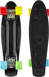 Lavorazione Alta qualit/á 63 Nero//Giallo 55cm MAXOfit/® Mini Cruiser Retro Skateboard No