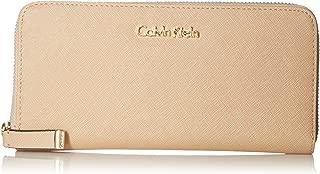 Calvin Klein Women's Saffiano Leather Zip-around Wallet