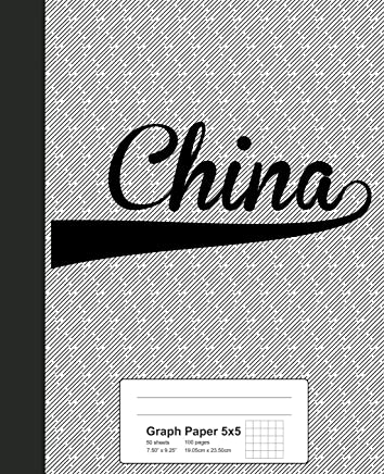 Graph Paper 5x5: CHINA Notebook