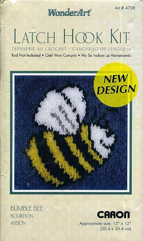Latch Hook Bumble Bee Kit WonderArt