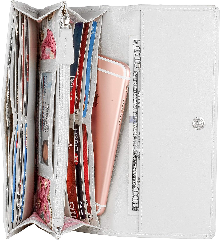 Genuine Leather Women RFID Slim Wallet For Women By Mou Meraki