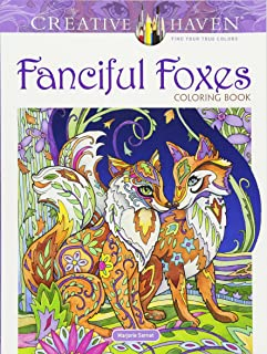 Creative Haven Fanciful Foxes Coloring Book (Creative Haven Coloring Books)