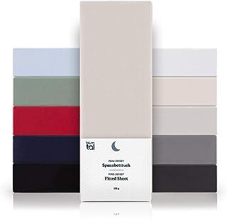 Blumtal - Drap Housse 160x200 Coton (x2) - Drap Housse Jersey 160x200 cm - 100% Coton - Jusqu'à 25cm De Hauteur - Ivoire