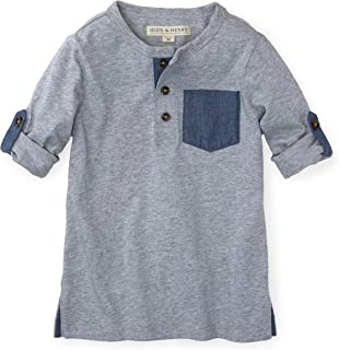 Boys' Henley Tee with Rolled Sleeves