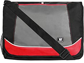 SumacLife Messenger Bag fits Tablets and Laptops up to 15.6 inch (Red)