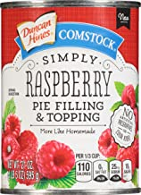 Comstock Simply Pie Filling & Topping, Raspberry, 21 Ounce (Pack of 8)
