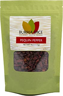 Pequin Peppers : Chile Pequin : Whole Dried Chile Pepper Herb Spicy : Kosher (4oz.)