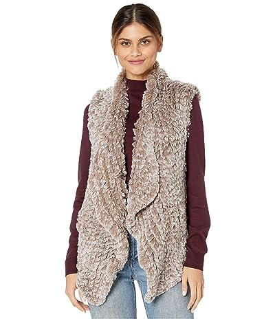 Love Token Kiera Faux Fur Vest (Taupe) Women