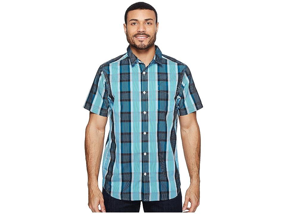 Mountain Hardwear Sutton Short Sleeve Shirt (Ocean Blue) Men