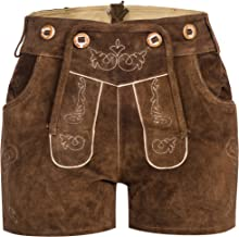 Women's German Trachten Lederhosen Trousers Shorts Costumes Bavarian Oktoberfest, Carnival or Halloween