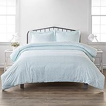 مجموعة ملاءات سرير سيمبلي سوفت بريميوم ستارلايت من 3 قطع من أغطية اللحاف، كامل/كوين، أزرق فاتح