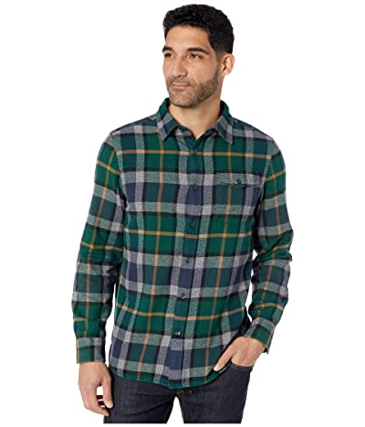 The North Face Long Sleeve Arroyo Flannel Shirt (Night Green Speed Wagon Plaid) Men