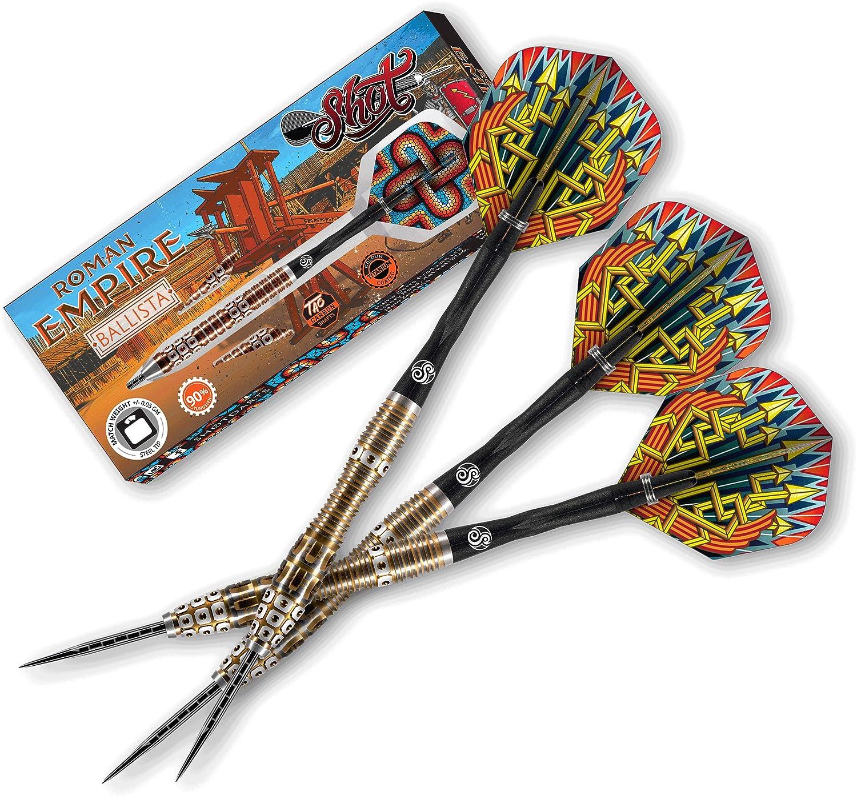 Special sale item Shot Darts List price Roman Empire Legion Steel Weighte Tip Front Dart Set