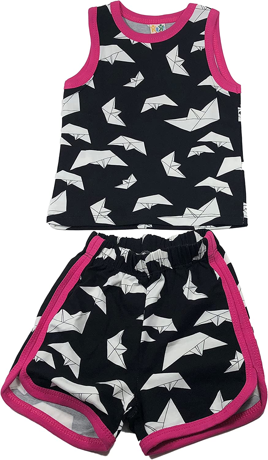 Baby Boys Baby Girls T-Shirt Clothes Vest and Pants Outfit Sets Easter Shark Outfits