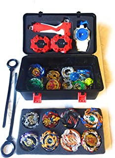 AutumnFall Portable Waterproof Box 8 in 1 Carrying Case Burst Battle Gyro Storage Box for Beyblade Burst Spinning Top (A)