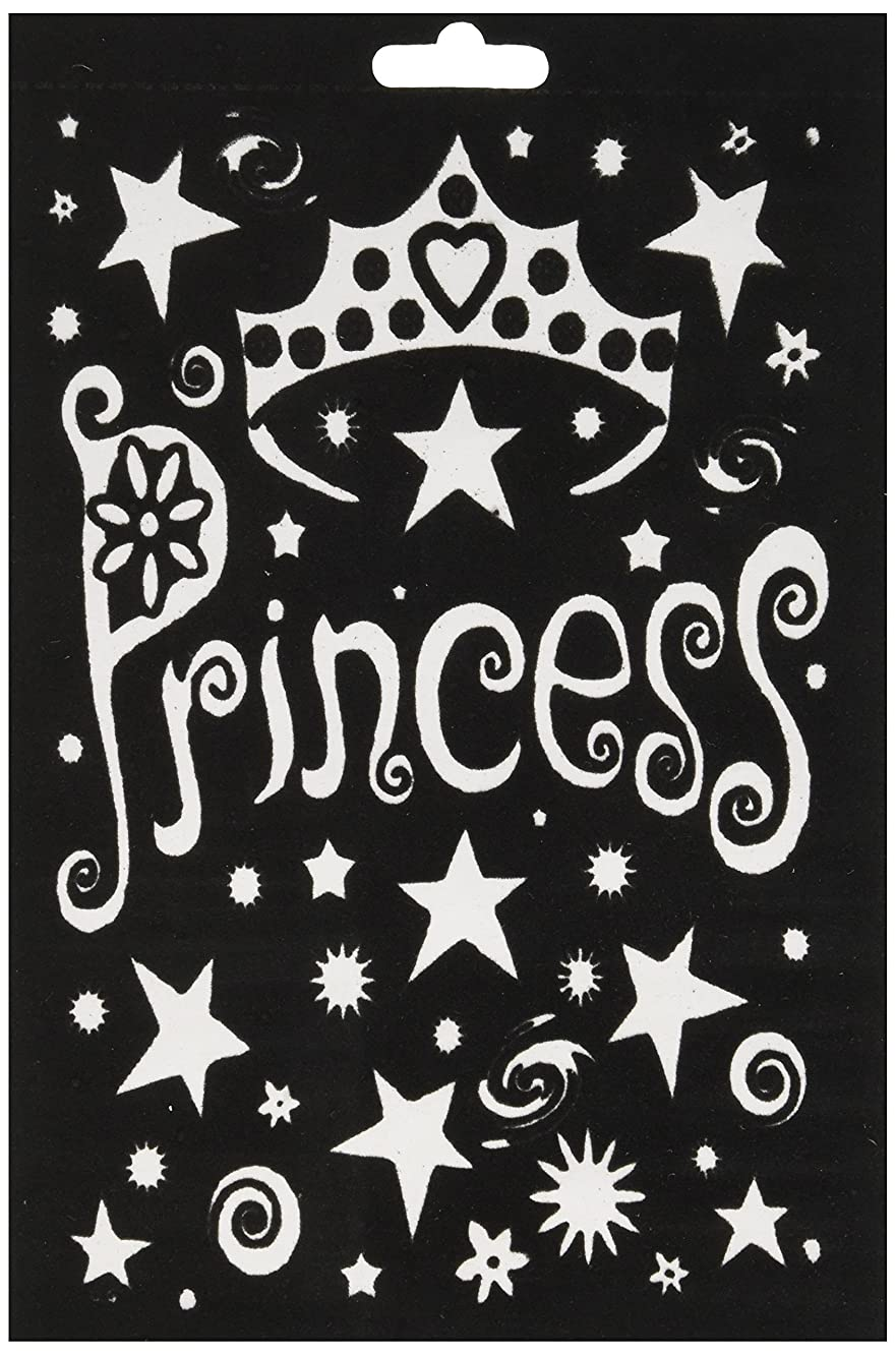 Darice Princess Crowns Velvet Color-in Poster with Markers, 6 by 9