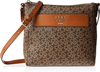 DKNY Crossbody for Women- Monogram/Brown