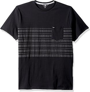 Volcom Men's Short Sleeve Threezy Crew Shirt, black, S