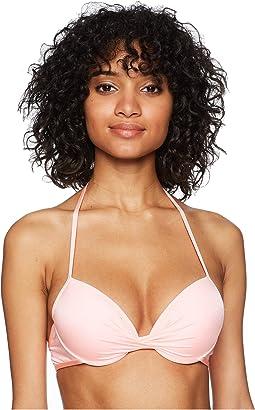 THE BIKINI LAB Solid Push-Up Underwire Bikini Top