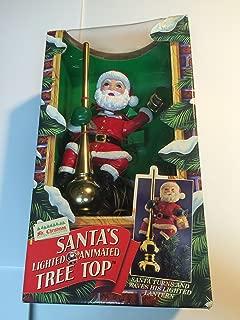 Mr. Christmas Lighted Animated Santa's Tree Topper