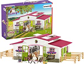 Schleich Horse Club Riding Center with Rider and Horses 44-piece Educational Playset for..