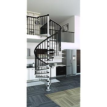 Mister Step Gamia Metal - Escalera de caracol para interiores (acero barnizado): Amazon.es: Bricolaje y herramientas