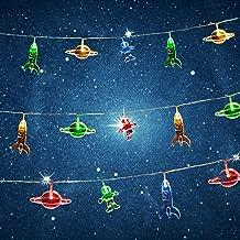 شريط اضواء ليد بتعليقات بتصميم الفضاء الخارجي والسفن الفضائية ورواد الفضاء لغرفة الاطفال (10-ليد)