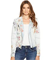 Blank NYC - Floral Embroidered Denim Studded Jacket in Sitting Pretty