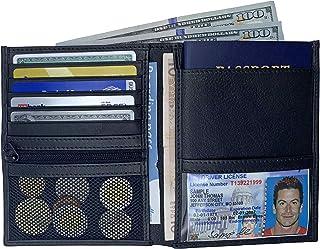 Black RFID Blocking Genuine Leather Travel Passport Wallet Holder