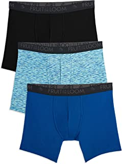 Fruit of the Loom Men's Breathable Lightweight Micro-mesh Boxer Brief Underwear (Pack of 3)