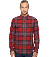 Original Penguin - Long Sleeve Twisted Yarn Flannel Woven Shirt