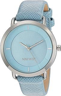 Nine West - Reloj de pulsera para mujer con correa de piel vegana