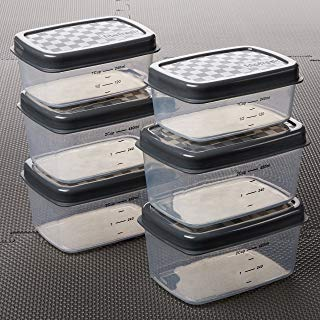 Fit & Fresh JAXX Set of Six Containers, Extra / Replacement Containers for Original FitPak, Leak Proof, Reusable, BPA-Free, Gray