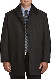 Calvin Klein Big and Tall Heathered Twill Overcoat