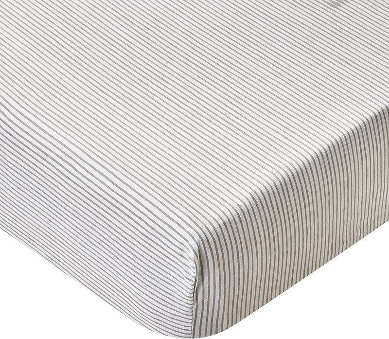 Pehr Pencil Stripe Crib Sheet Grey
