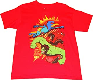 Phineas And Ferb Mission Marvel Boys Shirt - Agent P The Hulk Spider-man (X-Large 14-16)