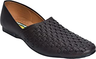 Kolapuri Centre Synthetic Made Black Coloured Ethnic Shoe for Men-KPC161