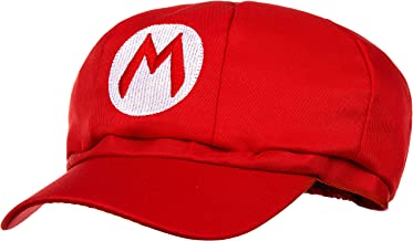 Super Mario Beanie rojo para adultos (damas y caballeros) disfraz de carnaval disfraz gorros gorro para hombre gorro para mujer