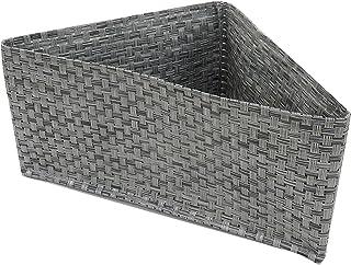 東和産業 浴室用ラック 磁着FB コーナーポケット マグネット 浴室収納 グレー 約27×19×13cm 水洗い可 メッシュ素材 水切れが良い