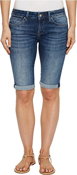 Karly Mid-Rise Bermuda Shorts in Dark Indigo Tribeca
