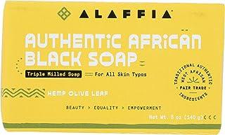 Alaffia, Hemp Olive Leaf Authentic African Black Soap, 5 Ounce