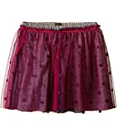 IKKS - Layered Tulle Skirt Over Jersey Fabric with Glitter Polka Dots & Elastic Waistband (Little Kids/Big Kids)